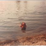 Horace swimming